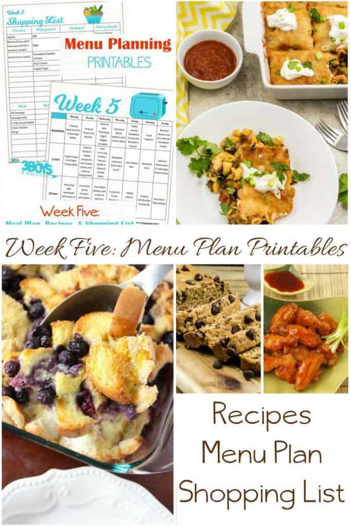 Week Five_ Menu Plan Printables