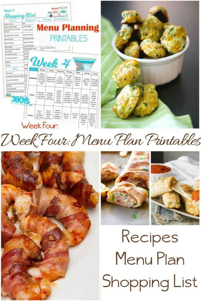 Week Four_ Menu Plan Printables