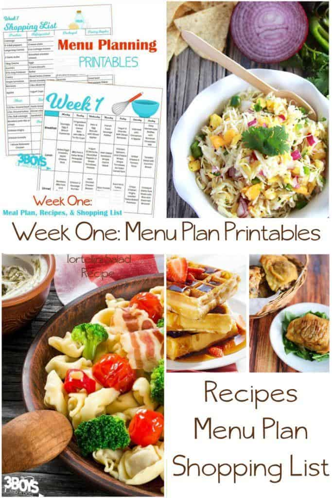 Includes the complete menu plan for the first week of the year - or any week, really.  You can find links to recipes and more