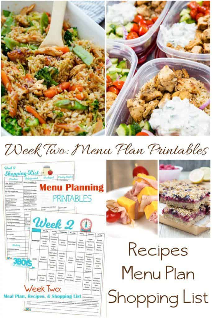 Week Two_ Menu Plan Printables