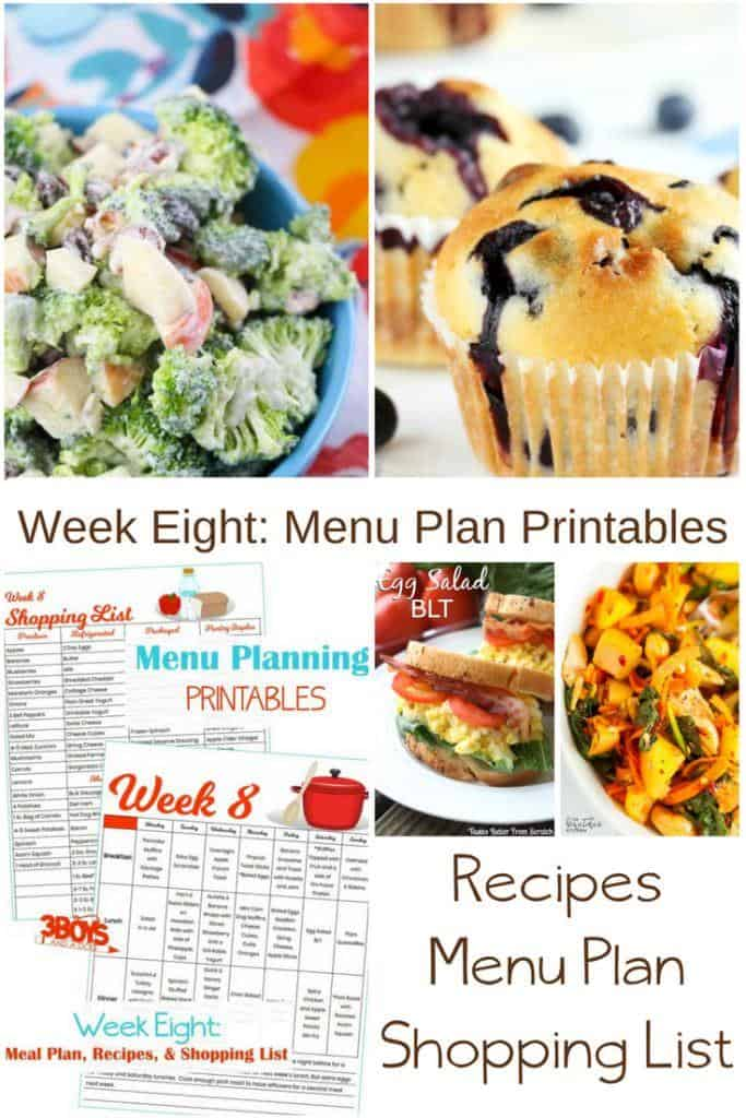 Quick Menu Plan for Spring Cleaning