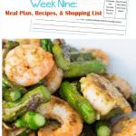 Week Nine Menu Planning Resources