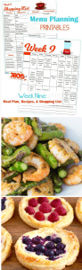Week Nine Menu Planning Resources
