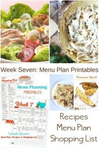 Week Seven_ Menu Plan Printables