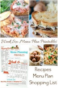Week Six_ Menu Plan Printables