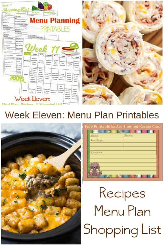 In addition to Free Easter Printables for Mom, you will find a printable menu, printable shopping list, and recipes.