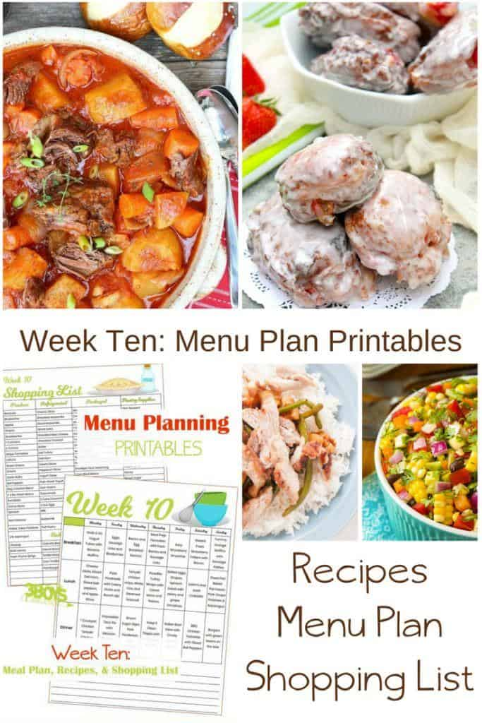 Week Ten_ Menu Plan Printables