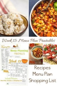 Menu Plan Monday:  What Will We Eat?