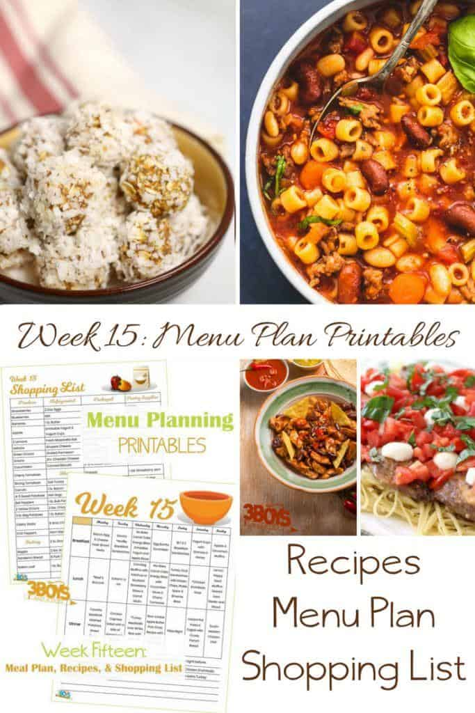 menu plans 15 . shop your pantry