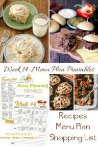 Week Fourteen_ Menu Plan Printables