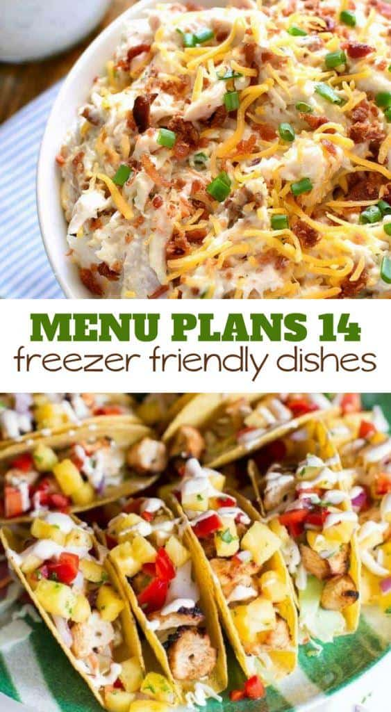 menu plans 14 freezer friendly dishes