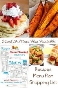 menu plans 19 . quick and delicious meals