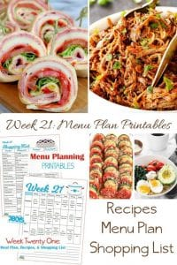 menu plans 21 . shopping my pantry