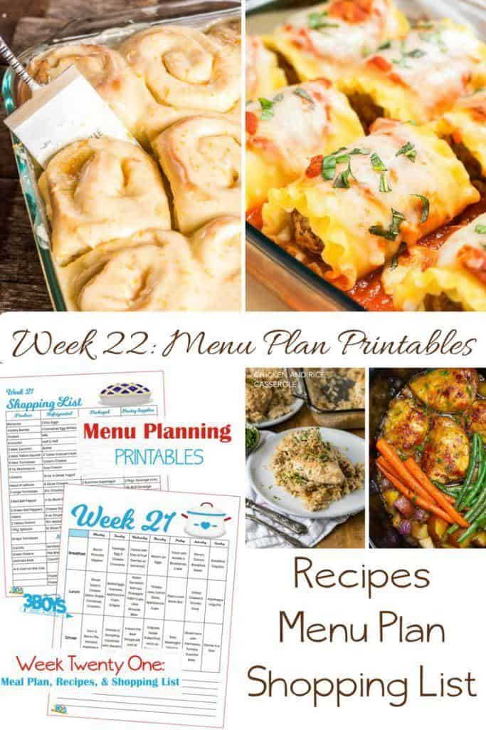 menu plans 22 . Memorial Day Resources