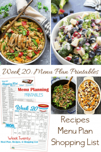 menu plans 20 . money saving dishes