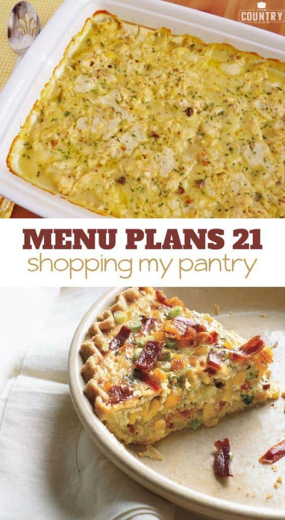 Week Twenty One_ Menu Plan Printables