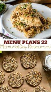 Week Twenty Two_ Menu Plan Printables