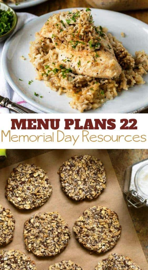 In additional to our regular printable menu plan and shopping list, I have also included several Memorial Day resources (including a yummy snack) for you and your children this week.