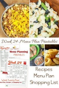 Week Twenty Four_ Menu Plan Printables