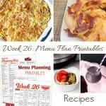Menu Plan Monday:  Kid Friendly Recipes