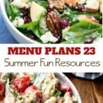 menu plans 23 . summer fun resources