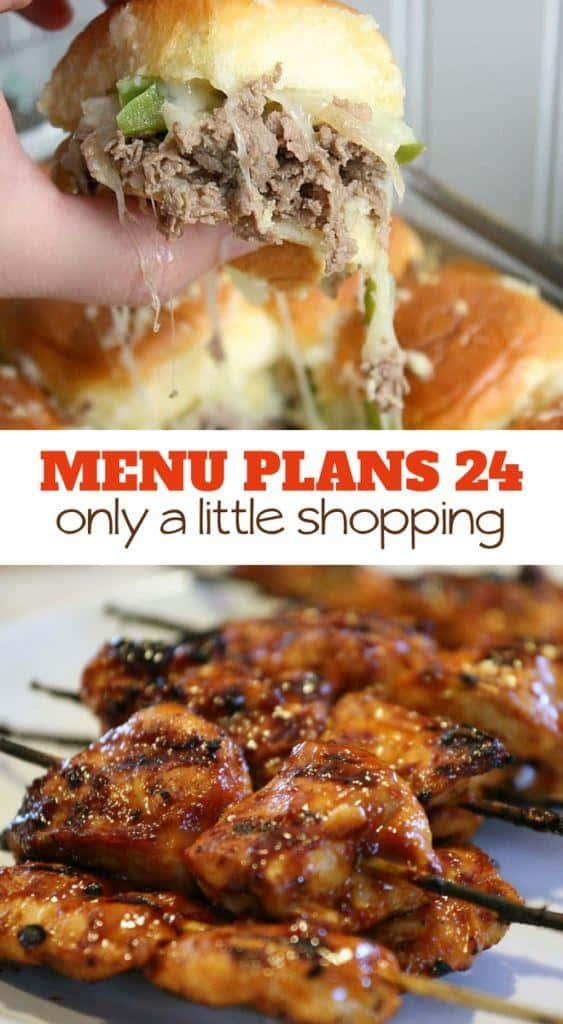 menu plans 24 . only a little shopping