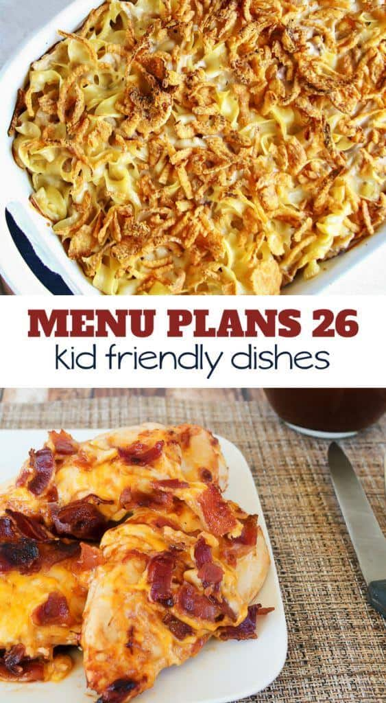 Week Twenty Six_ Menu Plan Printables