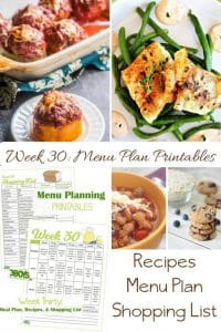 menu plans 30 . comfort food goodness