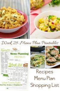 menu plans 28 . how to get things done