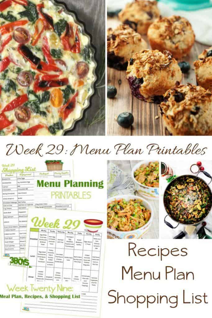 menu plans 29 . plus cool desserts