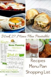 menu plans 27 . crockpot dishes