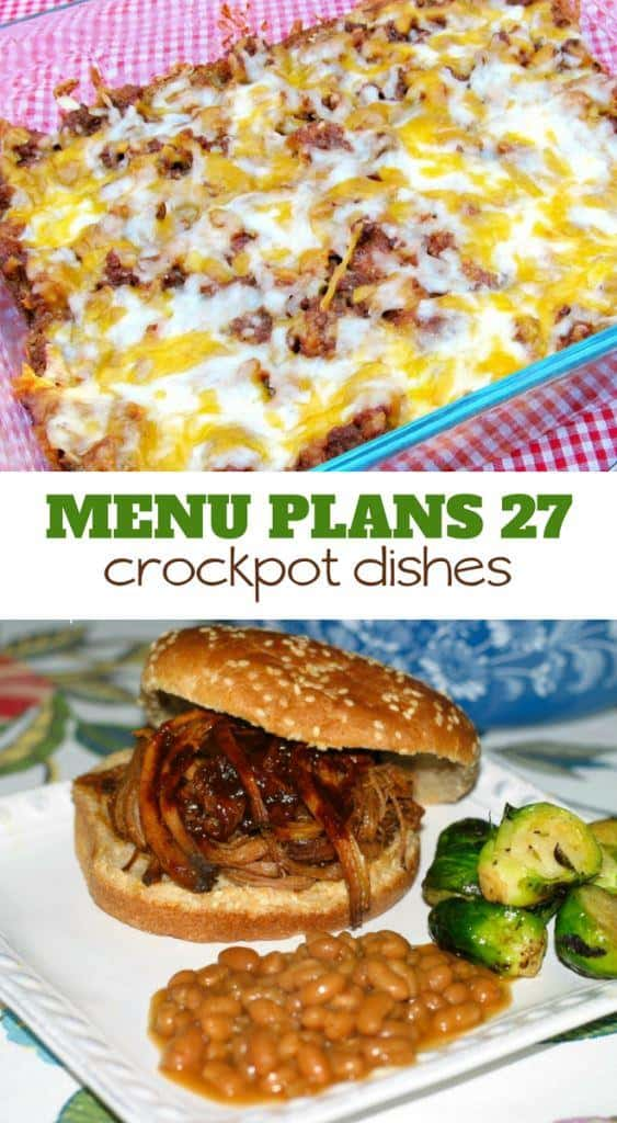 Week Twenty Seven_ Menu Plan Printables