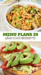 Week Twenty Nine_ Menu Plan Printables