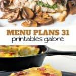 Week Thirty One_ Menu Plan Printables