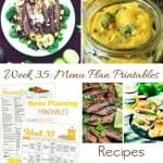 Week 35 Menu Plan Recipes & Shopping List + Housekeeping Tips