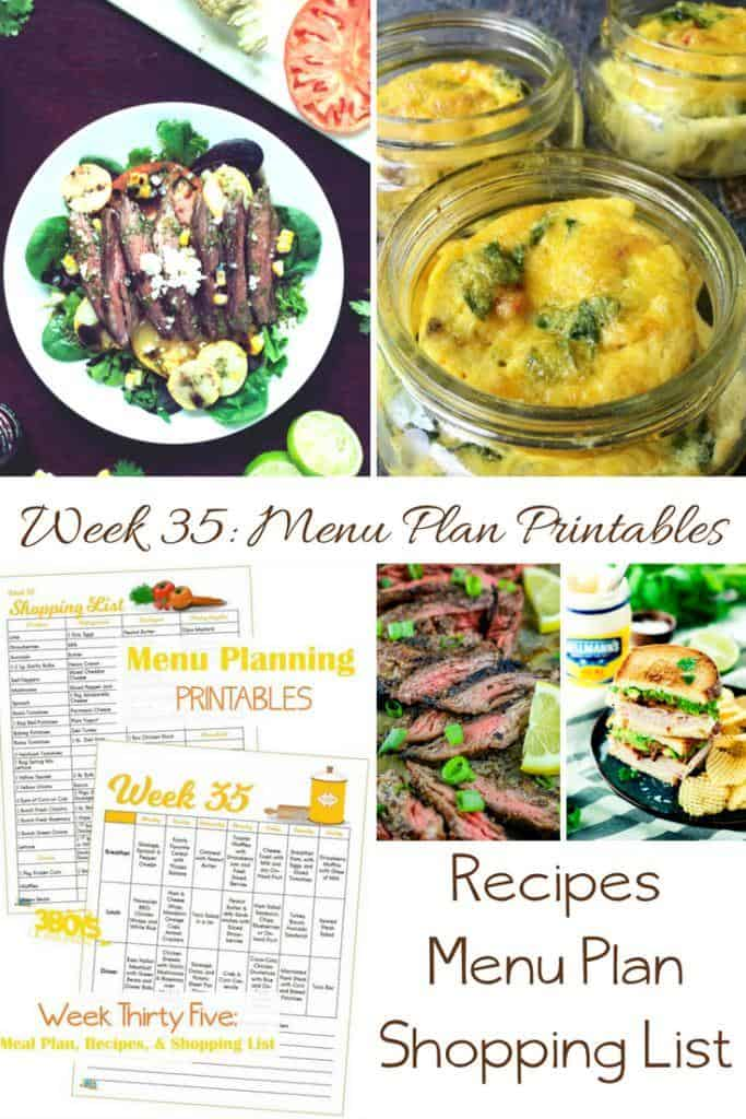 Week Thirty Five_ Menu Plan Printables