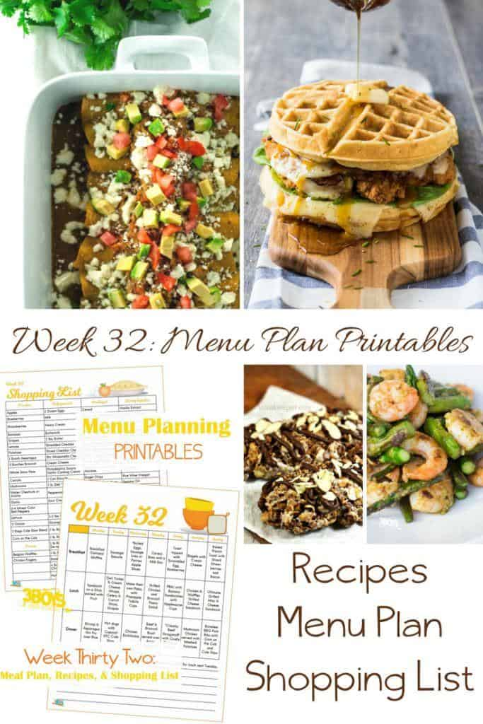 Week Thirty Two_ Menu Plan Printables