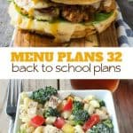 menu plans 32 . back to school plans