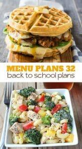 menu plans 32 . back to school plans