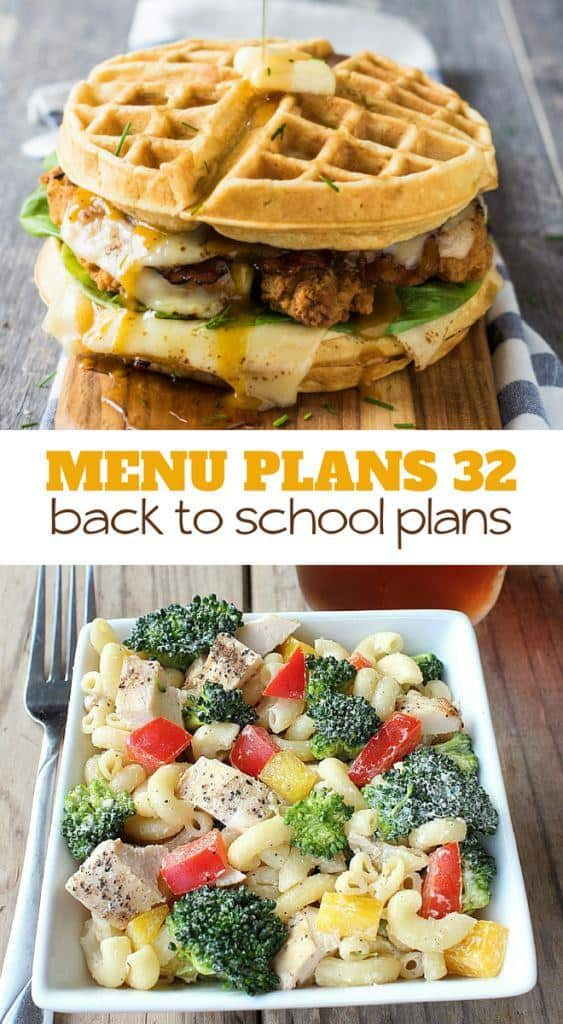 menu plan monday 32 . back to school plans