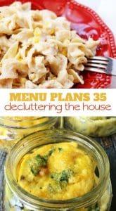 menu plans 35 . decluttering the house