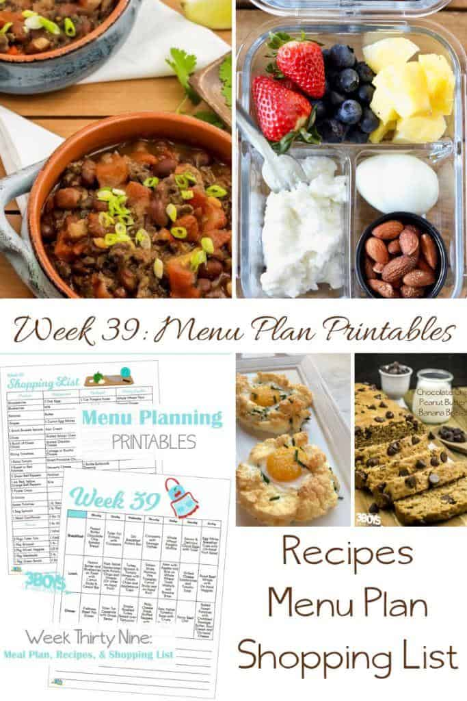 menu plans 39 . fall comfort dishes