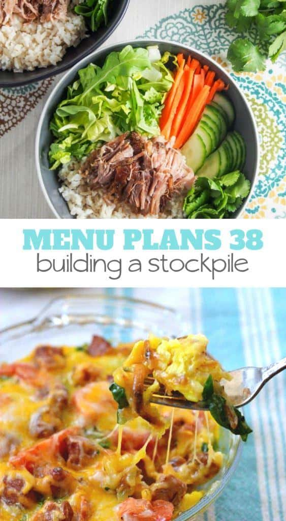 This week's Menu Plan Monday: Building a Stock will help you grow your stockpile without spending a fortune on groceries.