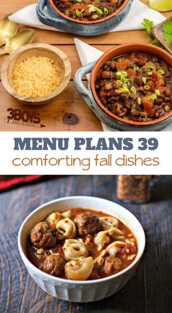 Week Thirty Nine_ Menu Plan Printables