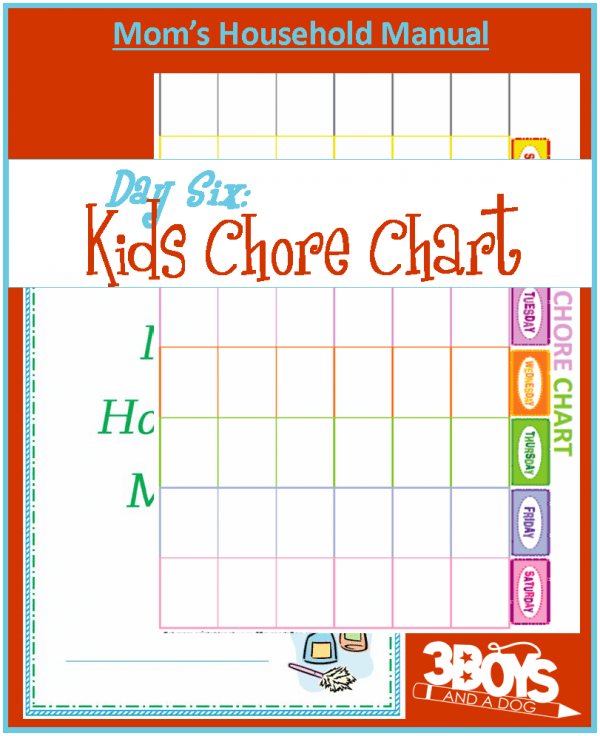 Free Printable Kids Chores Chart