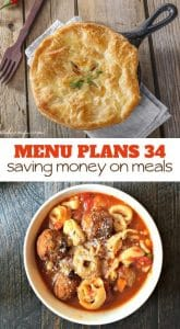 Meal Planning Saves Money: Week 34