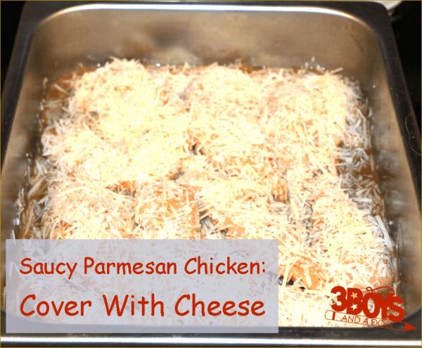 Saucy Parmesan Chicken last step