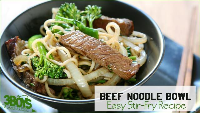 Easy Stir Fry Beef Noodle Bowl Recipe
