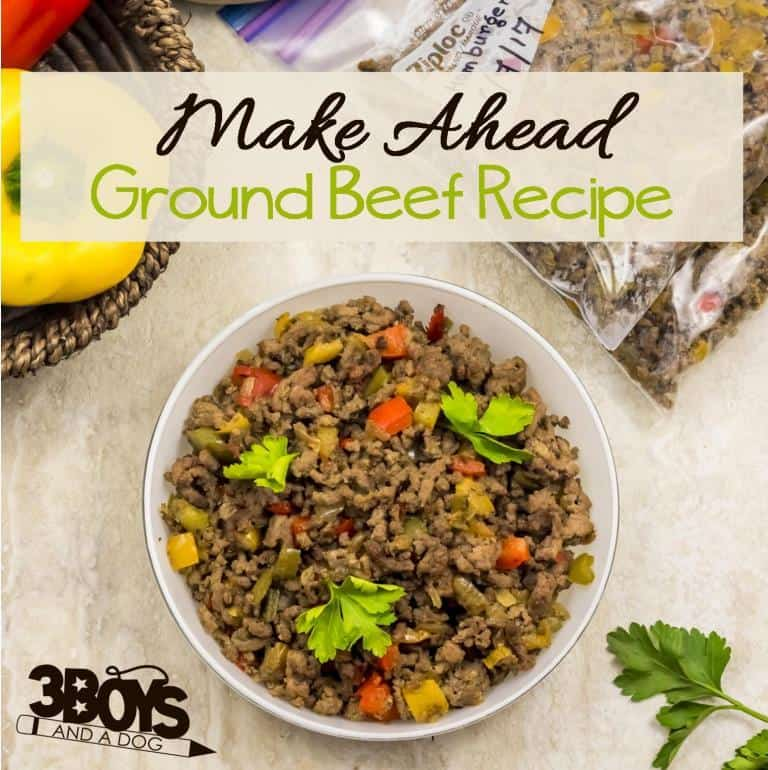 Make Ahead Ground Beef Recipe