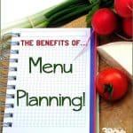 The Benefits of Menu Planning
